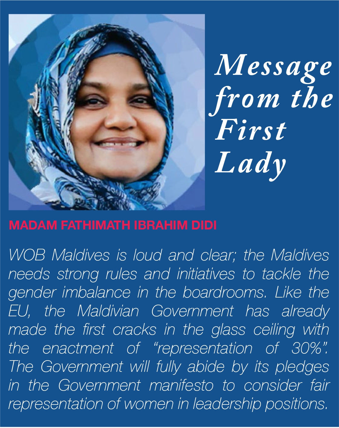 Maldives First Lady